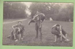 CHAMARANDE, Carte Photo : Transport De Blessés. Scouts De France. Années 1920. 2 Scans - Scoutisme