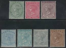 BERMUDAS 1884/93 - Yvert #17/23 - MLH * - Bermudas