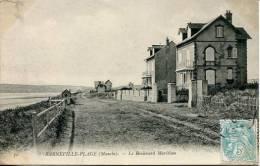 N°29493 -cpa Barneville Plage -le Boulevard Maritime- - Barneville