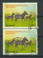 VEND BEAUX TIMBRES DE TANZANIE N° 4139 EN PAIRE + VARIETE : TRAIT BLANC VERTICAL SUR LE TIMBRE SUPERIEUR !!!! - Tanzania (1964-...)