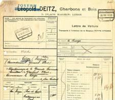 766/20 - 2 X Lettre De Voiture Gare De ASCH + Poids Reconnu 1923 Vers Gare De LIEGE-VIVEGNIS - Zonder Classificatie