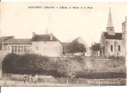 MOLINOT ( 21 ) - Côte D'Or - L'Ecole, La Mairie Et La Place - Altri Comuni
