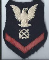 Armée US/Ecusson Aigle/ Marine/ Vers 1980         ET29 - Ecussons Tissu