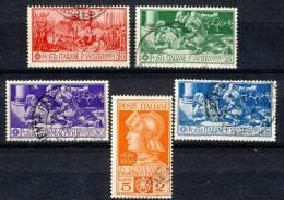 Regno VE3,1930, SS 55 Centenario Ferrucci, N. 276-280 Usati Cat. € 180 - 1900-44 Vittorio Emanuele III