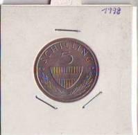 397b16: Österreich 5 Schilling 1998, Gute Umlaufqualität - Autriche