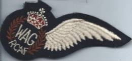 Armée GB/Couronne / Aile/ WAG/RCAF/Aviation// Vers 1985         ET19 - Ecussons Tissu