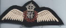Armée GB/Couronne / Ailes/ RAF/Aviation// Vers 1985         ET20 - Scudetti In Tela