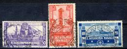 Regno VE3, 1931,  SS 60 Accademia Livorno N. 300-302 Usati - 1900-44 Vittorio Emanuele III