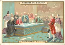 Chromos Réf. B086. Chocolat Du Planteur - Abolition Des Privilèges - Nuit Du 4 Août 1789 - Chocolat