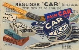 Themes Div-ref E308- Publicité Reglisse * Car *- Nimes -gard  - Carte Bon Etat    - - Publicité