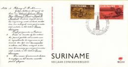 Suriname - FDC E112 - 100 Jaar Concessiebeleid - NVPH 638 - 639 - Suriname ... - 1975