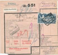 773/20 - Document De Colis Cachet Gare De LICHTERVELDE 1951 - Etiquette ARDOOIE KOOLSKAMP - 1942-1951