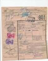774/20 - Document De Colis Cachet Gare TAMINES 1947 Vers WYGMAEL - Cachet Charbonnages De Tamines - 1942-1951