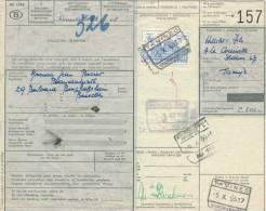 775/20 - Document De Colis Cachet Gare TAMINES Marchandises1965 Vers BXL - Chemins De Fer