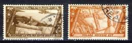 Regno VE3, SS 1507 Decennale Marcia Su Roma N. A42-A43 Usati - 1900-44 Victor Emmanuel III.