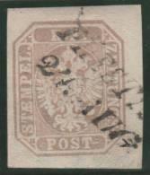 AUSTRIA 1863 - Yvert #9 (journaux) - VFU - 1850-1918 Imperio