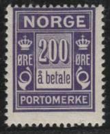 NORUEGA 1923/24 - Yvert #T12 (Taxas) - MLH * - Nuevos