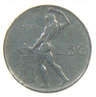 ITALIA - REPUBBLICA 50 LIRE VULCANO 1955 - 1946-… : Repubblica
