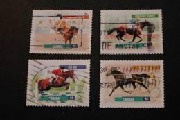 Canada 1795-98 Fauna Horses Northern Dancer Kingsway Skoal Big Ben Ambro Flight Cancelled 1999 A04s - 1952-.... Reign Of Elizabeth II