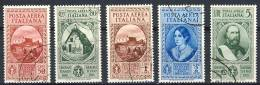 Regno VE3 SS 1506 Cinquantenario Garibaldi A32-A36 Usati - 1900-44 Victor Emmanuel III.
