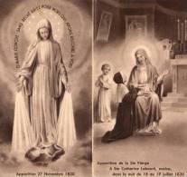 APPARITION DE LA  SAINTE VIERGE A SAINTE CATHERINE LABOURE.....IMAGE RELIGIEUSE. - Images Religieuses