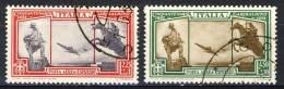 Regno VE3 SS 1506 Cinquantenario Garibaldi Espressi Aerei A37-A38, Usati - 1900-44 Victor Emmanuel III.