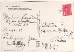 Griffe Linéaire En Arrivée :  Paris 07 / Carte Postale - France
