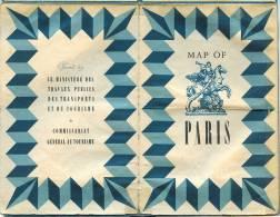 PLAN DE LA VILLE DE PARIS ET DE SON METRO  (Offert Par Le Commissariat Général Au Tourisme) - Textes Anglais. - Europe