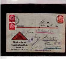 "TEM7937-  GERMANY POSTAL HISTORY   -   COVER  ""NACHNAME""  21.12.1938 FRANKFURT A.M./WIEN - Storia Postale"