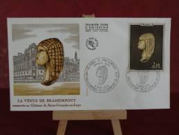 FDC - La Vénus De Brassempouy - 40 Brassempouy 78 St Germain - 6.3.1976 - 1er Jour - édit J.F - 1970-1979