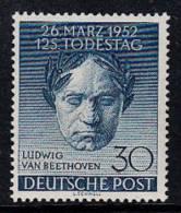 H0026 GERMANY BERLIN 1952, SG B87 Mi 87, Beethoven  MNH - Ungebraucht