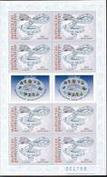 Kyrgyzstan 2001 - Zodiac´s, Snakes, MS With Imperforated Stamps, MNH - Astrology