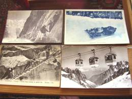 Lot 4 Cpa Chamonix,telepherique,mon Tagne - Chamonix-Mont-Blanc