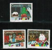 CANADA. 1985, USED # 1067-9,  CHRISTMAS SANTA CLAUS PARADE  USED - Oblitérés