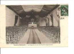 CPA Alençon    Ecole St François -  La Chapelle Un Jour De Première Communion - Alencon