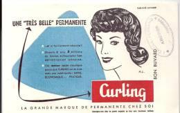 """Buvard Coiffure Une """"très Belle Permanente"""" Curling La Grande Marque De Permanente Chez Soi Offert Par Lerriche-Ferrand - Parfums & Beauté"""