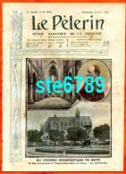 LE PELERIN 18 Aout  1907 N° 1598 CATASTROPHE FERROVIAIRE DES PONTS-DE-CE, MAINE-ET-LOIRE. CARICATURE CLEMENCEAU. - Books, Magazines, Comics