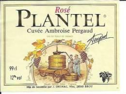 SKALLI - SETE - PLANTEL ROSE CUVEE AMBROISE PERGAUD 99cl ( étiquette De Vin  ) CETTE - Sete (Cette)