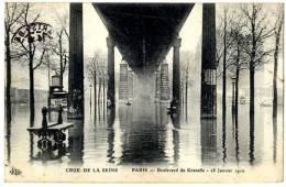 75 PARIS 15 METRO BOULEVARD DE GRENELLE 28 JANVIER 1910 - Arrondissement: 15