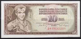 Yugoslavia 1968 Banknote Of 10 Dinars - Yougoslavie