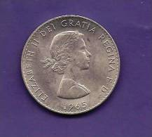 GREAT BRITTAIN 1965,  Circulated Coin, 15 Shilling , Winston Churchill,   Km910  C90.139 - 1902-1971 : Post-Victorian Coins