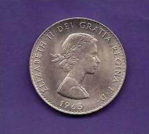 GREAT BRITTAIN 1965,  Circulated Coin, 15 Shilling , Winston Churchill,   Km910  C90.140 - 1902-1971 : Post-Victorian Coins