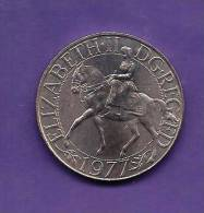 GREAT BRITTAIN 1977  Circulated Coin, QUEEN ELIZABETH II SILVER JUBILEE C90.143 - 1971-… : Decimal Coins