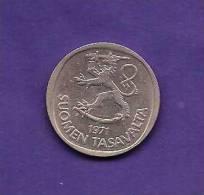 FINLAND 1971,   Circulated Coin XF, 1 MARKKA, Copper-Nickel,  KM49a, C90.159 - Finland