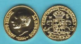 PHILIPPINES  (Spanish Colony-King Alfonso XII) 4 PESOS  1.880  ORO/GOLD  KM#151  SC/UNC  T-DL-10.368 COPY  Can. - Philippines