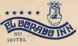 PERU CUSCO EL DORADO INN VINTAGE LUGGAGELABEL