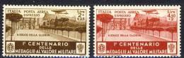 Regno VE3, SS 1514 Medaglie D´0ro Espressi Aerei N. A81-A82  MNG (senza Gomma) - 1900-44 Victor Emmanuel III.