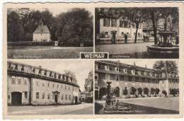 Weimar Germany, Multi-view Of Town, WWII Feldpost C1940s Vintage Postcard - Weimar