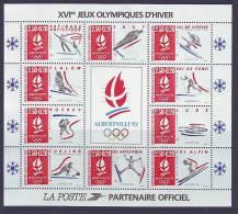 1992 Bloc BF 14 ** Neuf Albertville Jeux Olympiques D'Hiver - SOUS La Faciale 3.81 € - Nuovi
