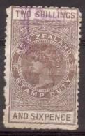 Nieuw Zeeland 1882 Nr 2 Stempelmarken 2 Shilling 6 Pence - 1855-1907 Crown Colony